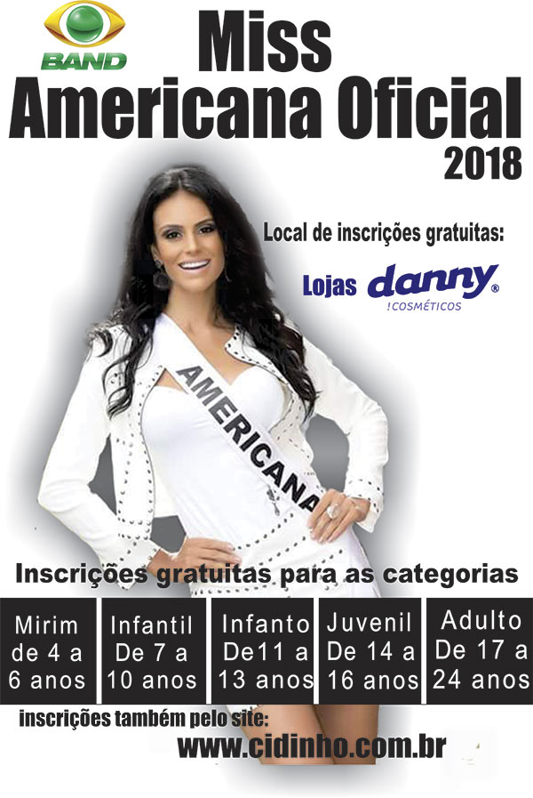 Miss Americana Oficial 2018 - Outro Local, Americana-SP