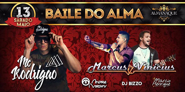 Baile do Alma - Almanaque Bar & Club, Araraquara-SP