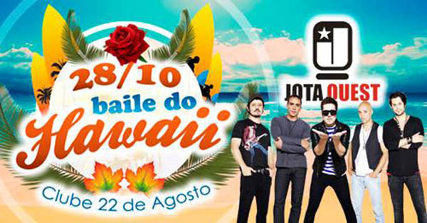 Jota Quest - Baile do Hawaii do Clube 22 de Agosto - Clube 22 de Agosto - Sede de Campo, Araraquara-SP