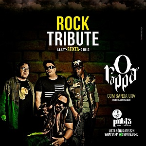 SEXTA ROCK TRIBUTE- O RAPPA - Pub 13 - Rock e Lounge, Araraquara-SP