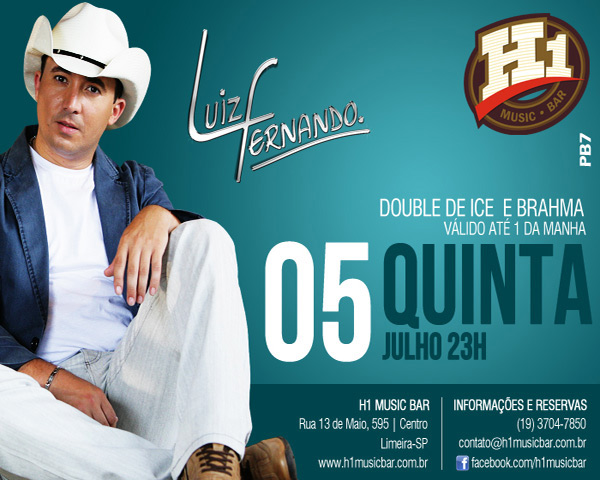 Luiz Fernando no H1 Music Bar  - H1 Music Bar, Limeira-SP