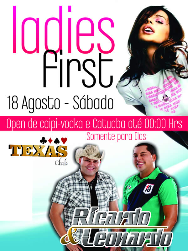 Ladies First - Cervejaria Texas Club, Araxá-MG