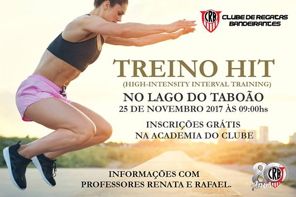 Treino Hit - Lago do Taboão, Bragança Paulista-SP