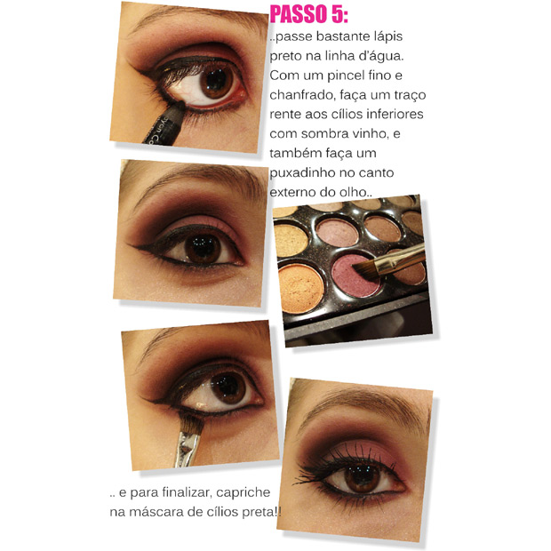 Passo 5: pin­cel 266 MAC - Lápis preto Aqua Eyes, Make Up Forever