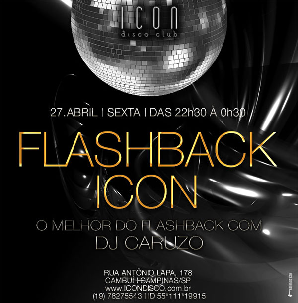 Noite de Flashback na Icon - Icon Disco Club, Campinas-SP