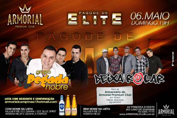 Pagode de Elite no domingo do Armorial - Armorial Club, Campinas-SP