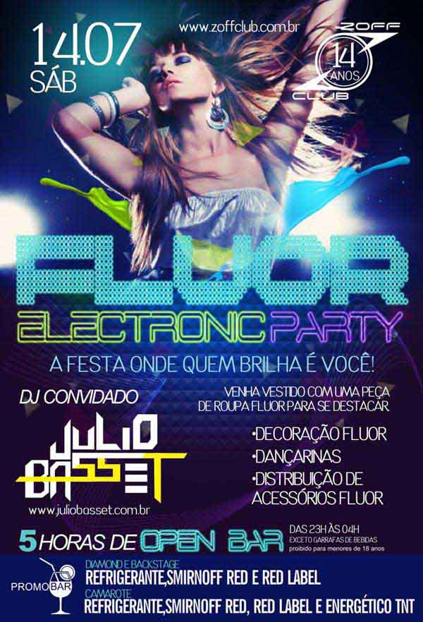 Fluor Electronic Party - Zoff Club, Indaiatuba-SP