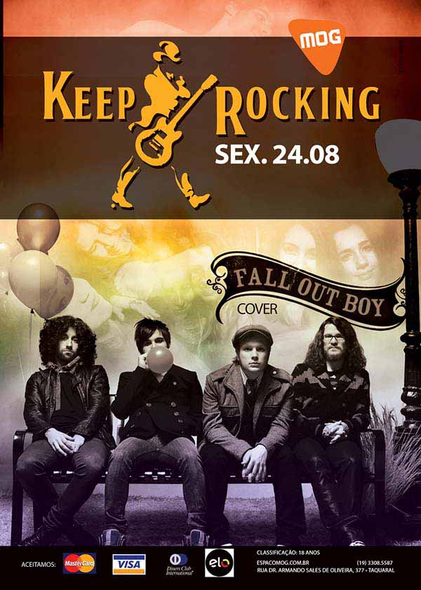 Keep rocking com cover de Fall Out Boy - Espaço MOG, Campinas-SP