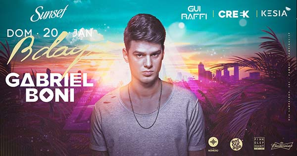 Gabriel Boni Bday - Welcome Back Party - Pink Elephant Campinas, Campinas-SP