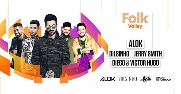 Folk Alok, Dilsinho, D&VH e Jerry Smith - Folk Valley, Valinhos-SP