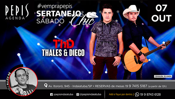 Sertanejo Chic - PEPIS PIZZA BAR, Indaiatuba-SP