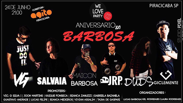 We Love Party - Outro Local, Piracicaba-SP