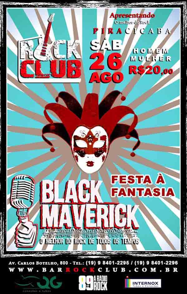 Festa a Fantasia com a Black Maverick no Rock Club