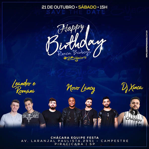 Happy Birthday Renan Barboza - Buffet Equipe Festa, Piracicaba-SP
