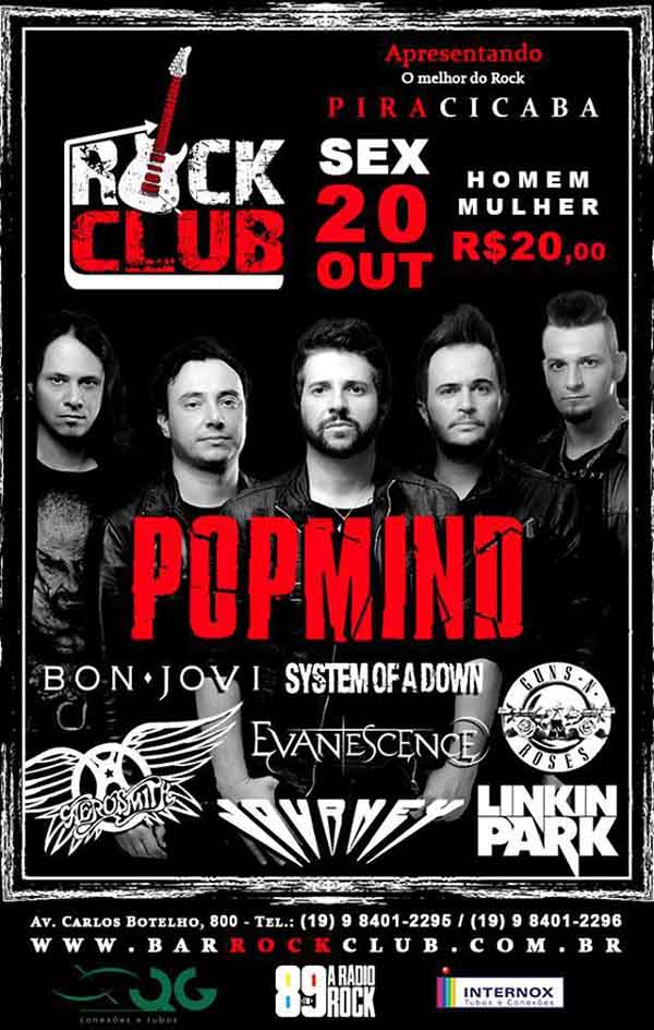 PopMind no Rock Club Piracicaba