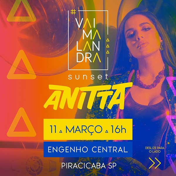 Anitta #Vai Malandra Sunset no Engenho Central Pir - Engenho Central de Piracicaba, Piracicaba-SP
