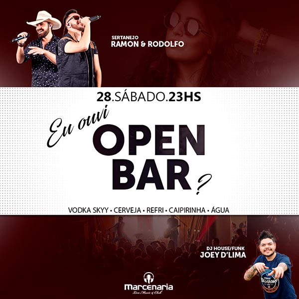 Sábado Marcena -Open Bar