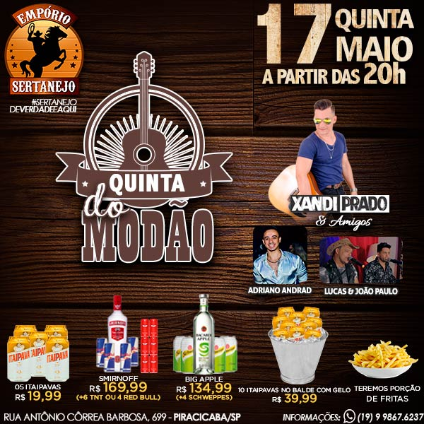 Quinta do Modão no Empório Sertanejo - Empório Sertanejo Piracicaba, Piracicaba-SP