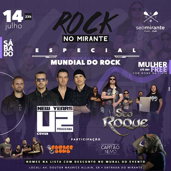 U2 + Seo Roque no Seo Mirante - Seo Mirante Music Club, Piracicaba-SP