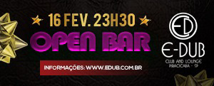 Sábado Open Bar na Edub