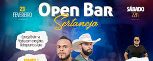 Open bar Sertanejo na Cachaçaria