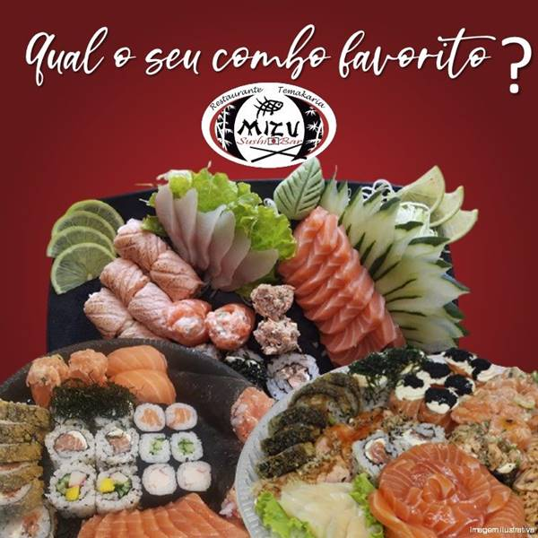 Almoço no Mizu Sushi Bar