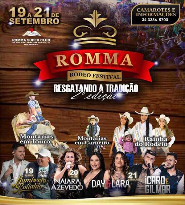 Romma Rodeo Festival - Romma Hall Center, Uberaba-MG